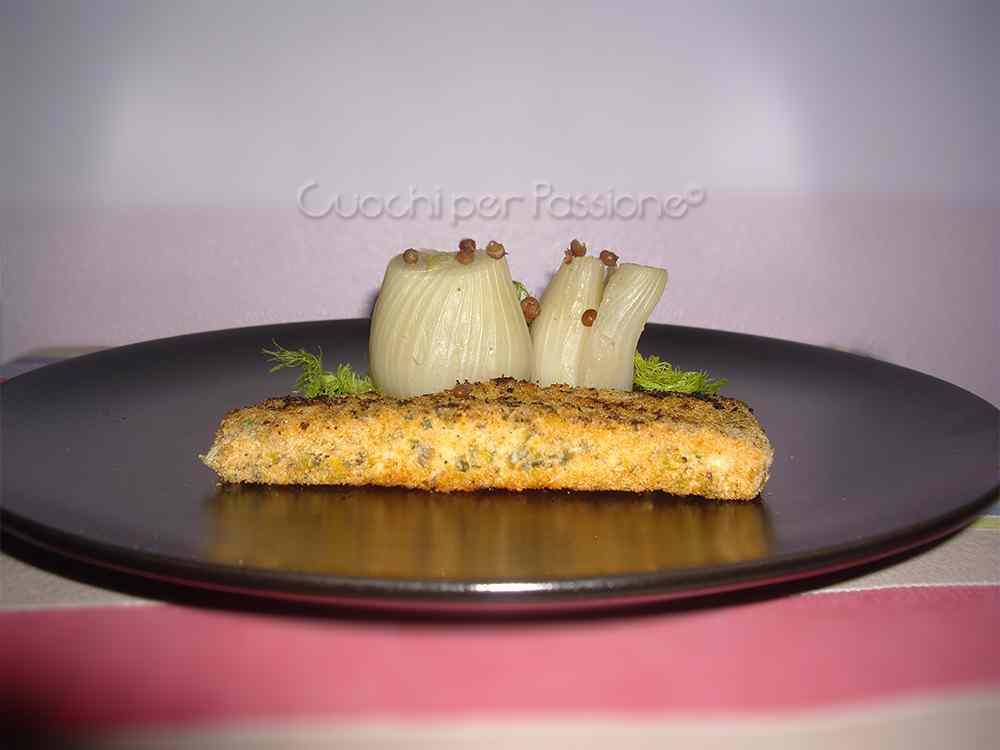 Ricetta: Salmone Croccante con Finocchi al Pepe Rosa