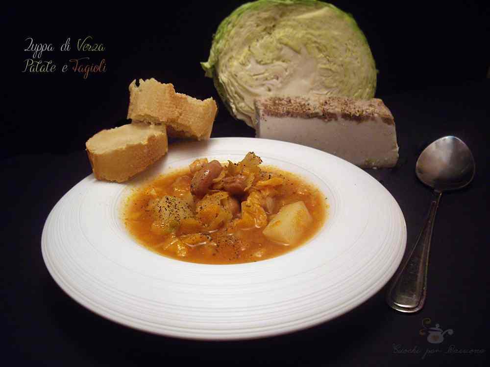 Ricetta: Zuppa di Verza, Patate e Fagioli