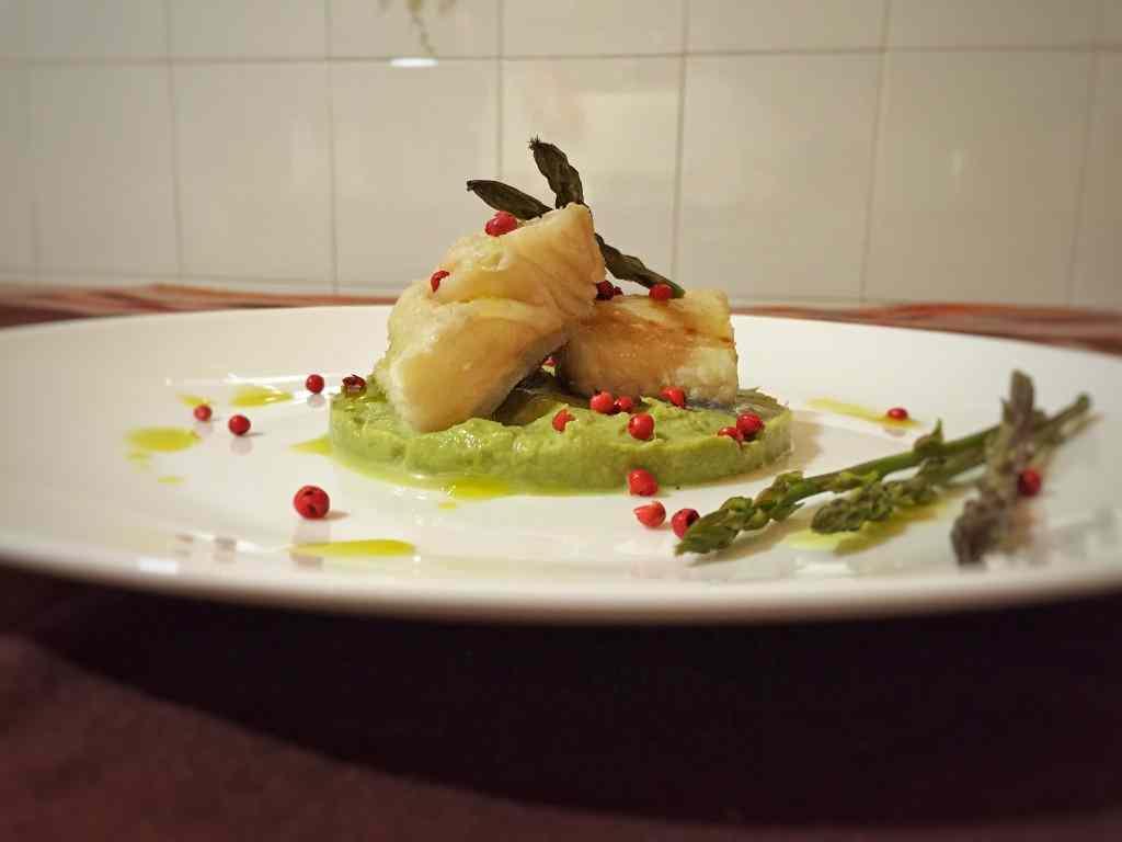 Ricetta: Baccala con crema di asparagi