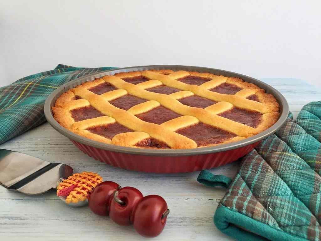 Ricetta: Crostata la farro con marmellata di fragole