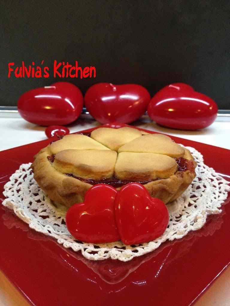 Ricetta: Mini Crostata per San Valentino con confettura di fragole