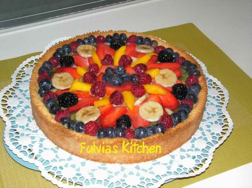 Ricetta: Crostata alla frutta e crema pasticcera