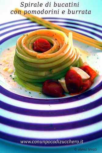Ricetta: Timballino di bucatini con pomodorini e burrata