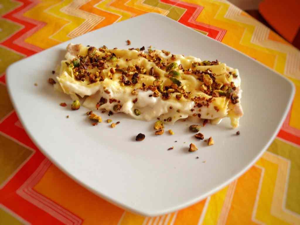 Ricetta: Cannelloni con mortadella, ricotta e pistacchi