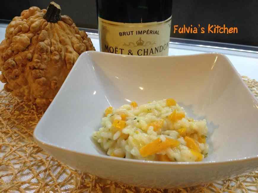 Ricetta: Risotto allo champagne con zucca