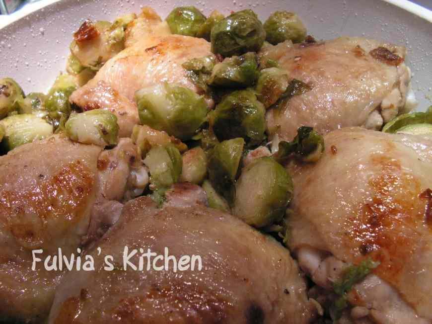 Ricetta: Pollo coi cavolini di Bruxelles