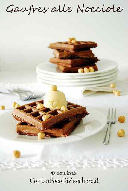 Ricetta: Gaufres al cacao e nocciole