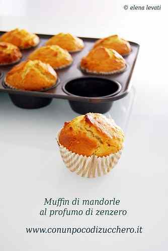Ricetta: Muffins alle mandorle al profumo di zenzero