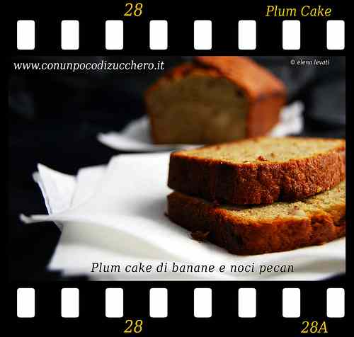 Ricetta: Plum cake di banane e noci pecan