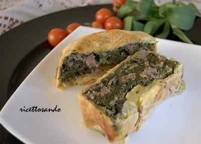 Ricetta: Terrina di spinaci e vitello in crosta