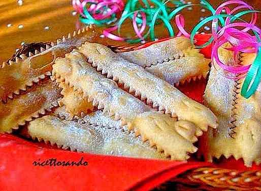 Ricetta: Chiacchiere o frappe di carnevale al forno