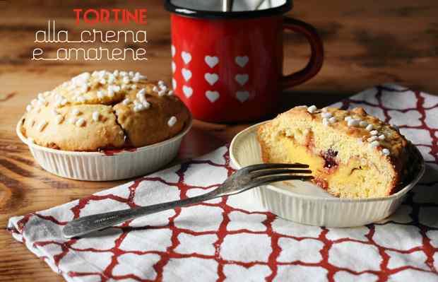 Ricetta: Tortine alla crema e amarene