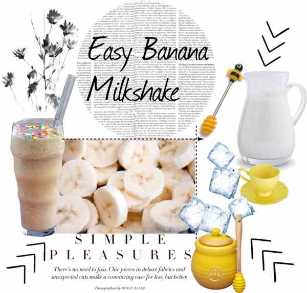 Easy banana milkshake