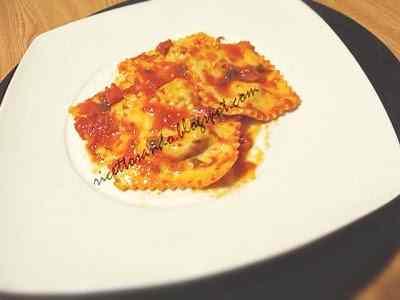 Ricetta: Ravioli light con formaggio fresco e carciofi