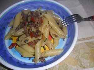 Ricetta: Penne con carne e verdure