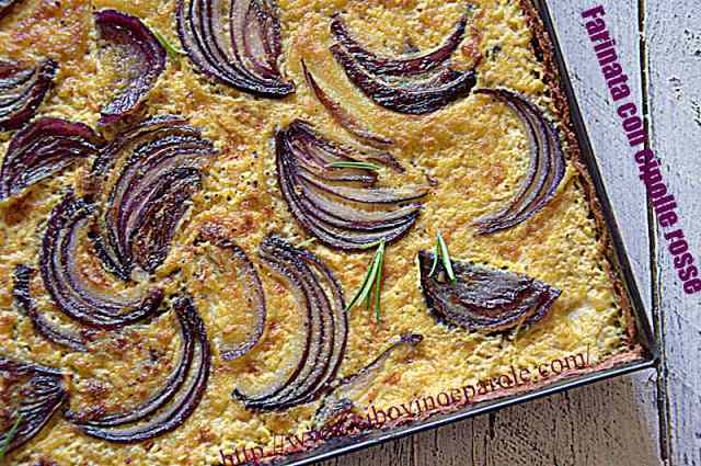 Ricetta: Farinata con cipolle rosse