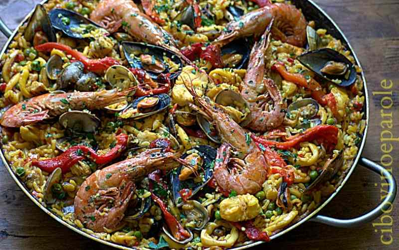 Ricetta: Paella de marisco