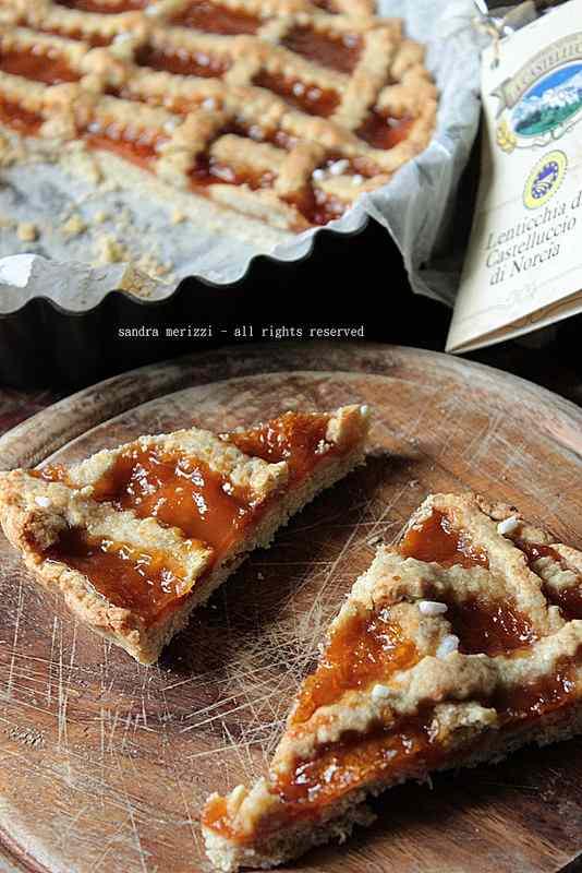 Ricetta: Crostata con farina di lenticchie