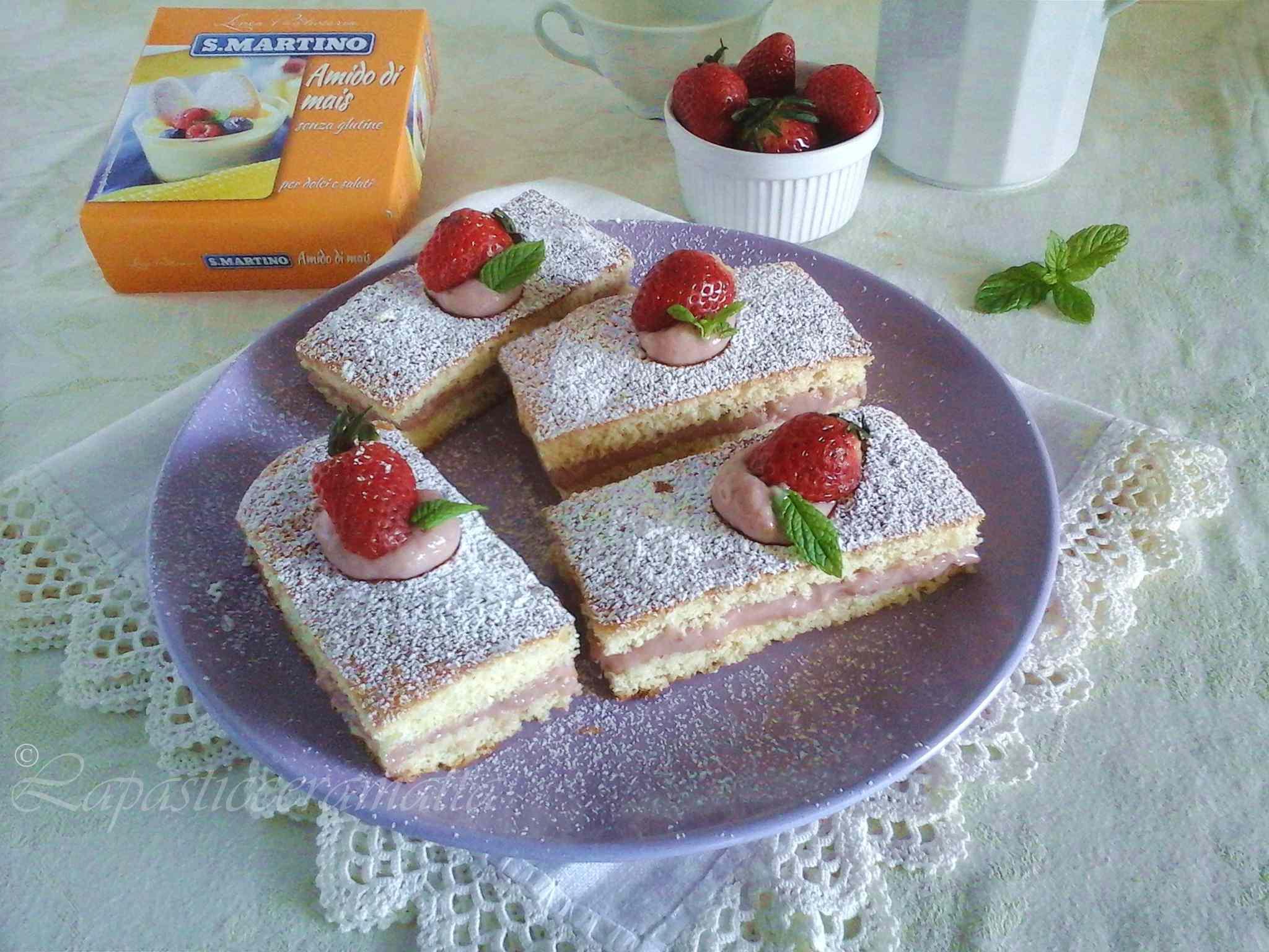 Ricetta: Merendine con crema pasticcera alle fragole