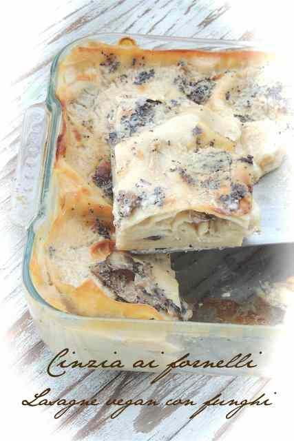 Ricetta: Lasagne vegane ai funghi