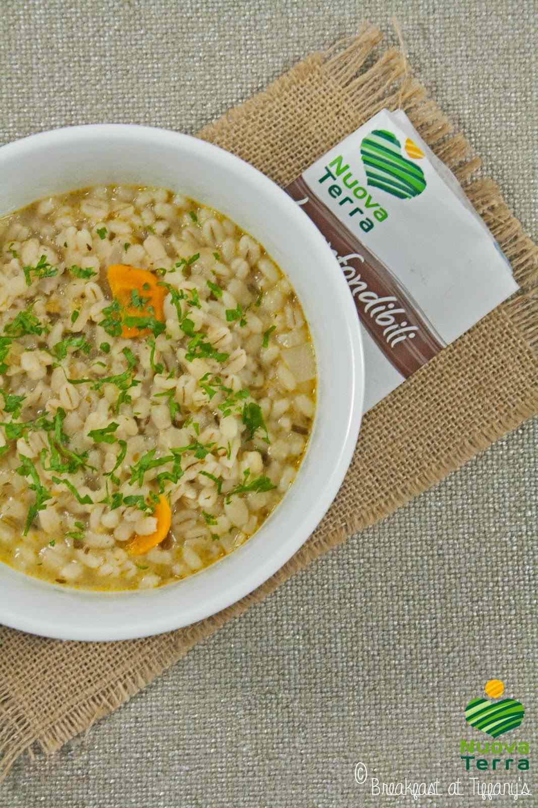 Ricetta: Minestra orzo e porri nuova terra / barley and leek soup by nuova terra