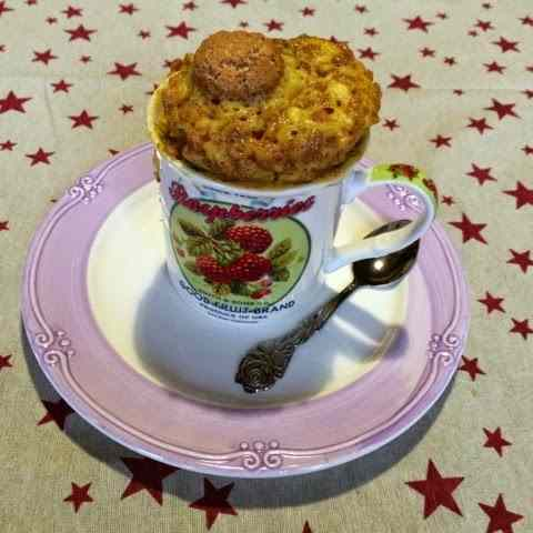 Ricetta: Mug cake agli amaretti