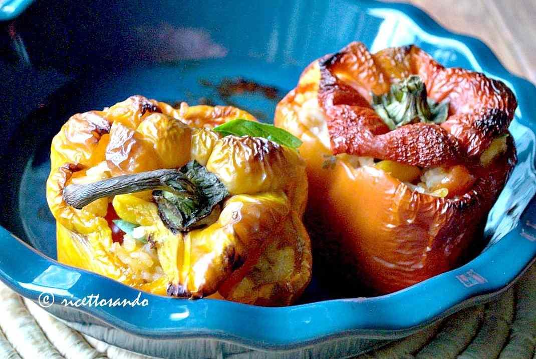 Ricetta: Peperoni light ripieni di riso