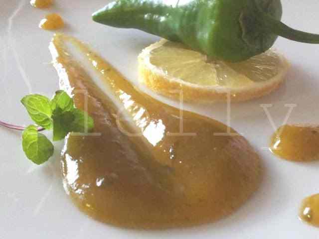 Alassio sottovetro - marmellata di limoni e friggitelli alla menta