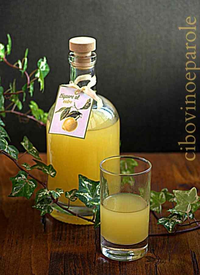 Ricetta: Liquore al cedro
