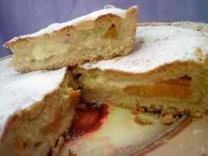 Ricetta: CrosTorta con pesche e crema pasticcera alla panna