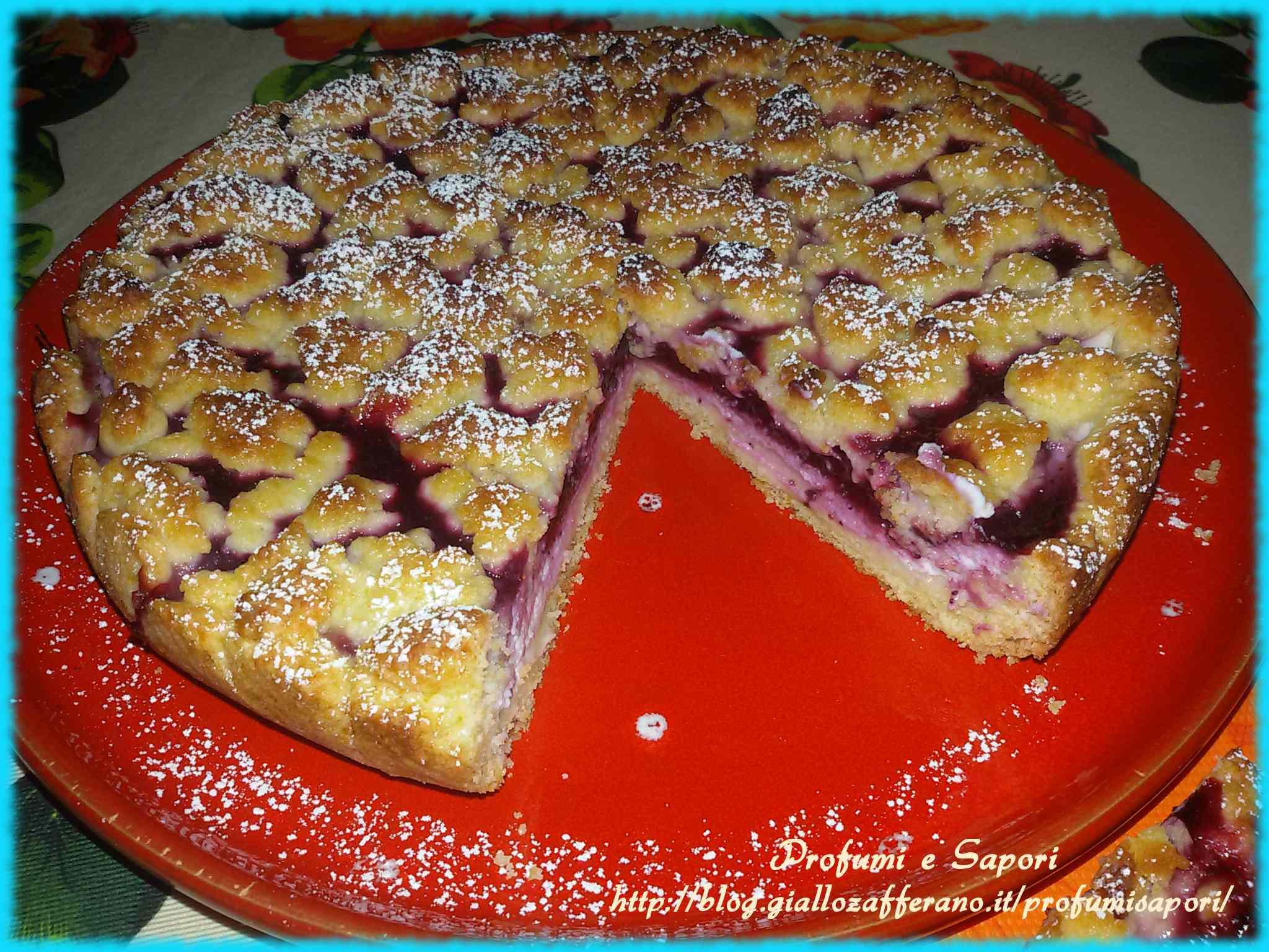 Ricetta: Torta sbriciolata alla ricotta e marmellata