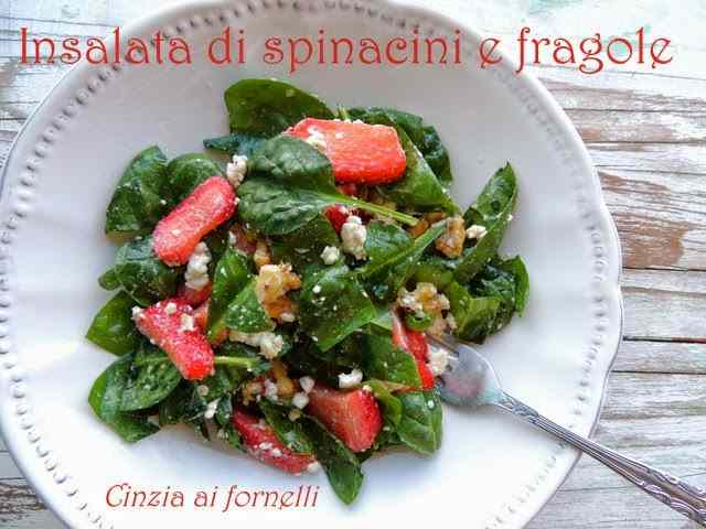 Ricetta: Insalata con spinacino e fragole