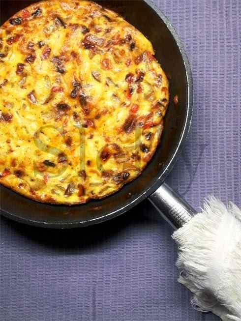 Ricetta: Disco d'oro 2015 - frittata al forno di patate, peperoni e scamorza affumicata