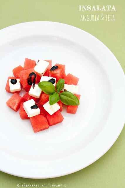 Ricetta: Insalata anguria e feta / feta cheese and watermelon salad