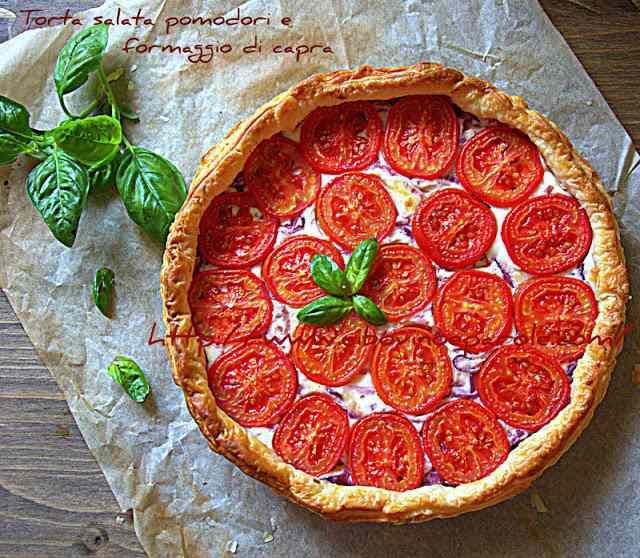 Ricetta: Torta salata pomodori e formaggio di capra