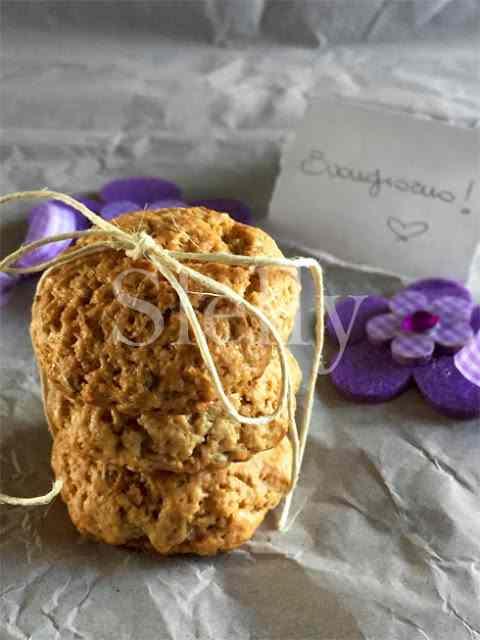Ricetta: Biscotti lunari - biscotti morbidi con cannella e semi di girasole, senza burro