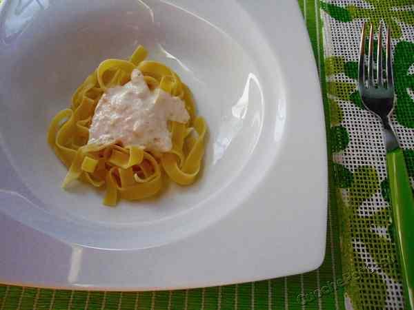 Ricetta: Tagliatelle alla crema di mascarpone e mandorle,ricetta per intenditori
