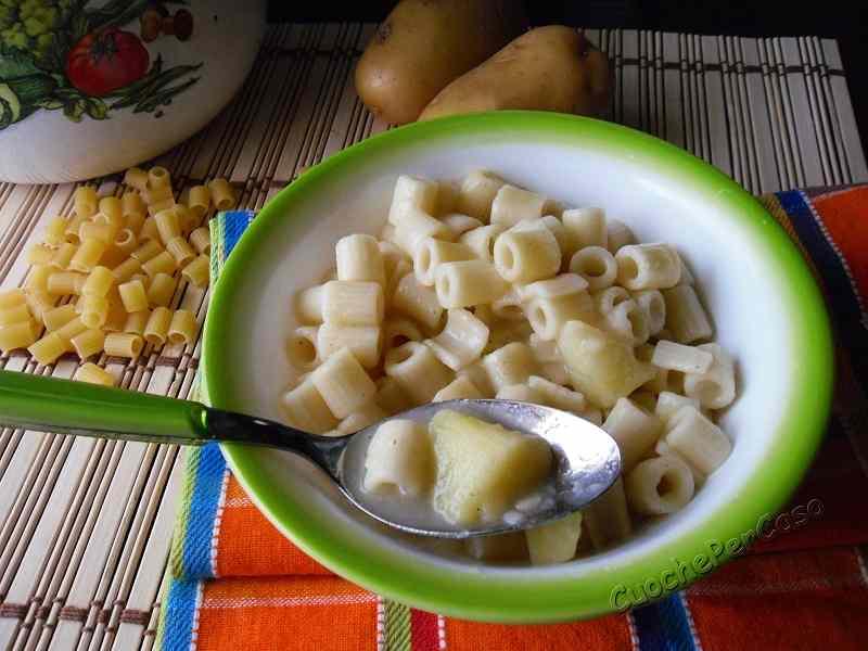 Ricetta: Pasta e patate (ricetta in bianco)