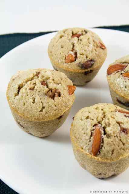 Ricetta: Muffin con pezzetti di cioccolato fondente e mandorle