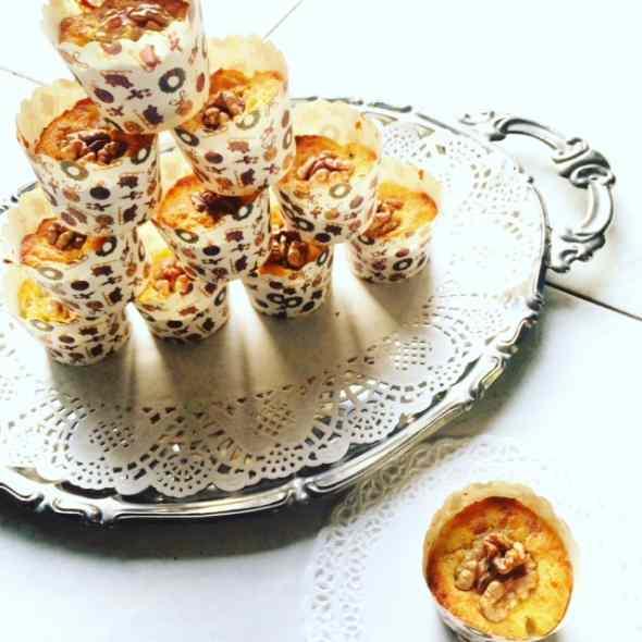 Ricetta: Muffin gorgonzola, pere e noci per un anno che...