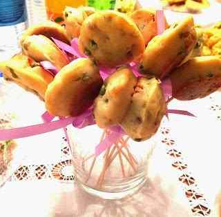 Ricetta: Mini muffin salati - speck e piselli