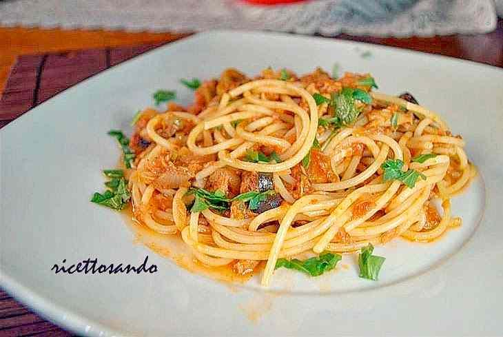 Ricetta: Pasta con tonno e olive