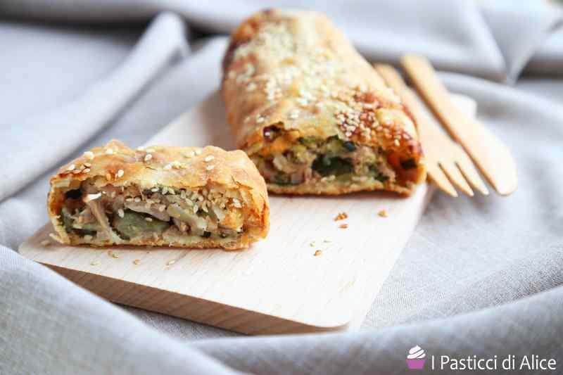 Ricetta: Strudel Salato Zucchine Tonno e Prosciutto