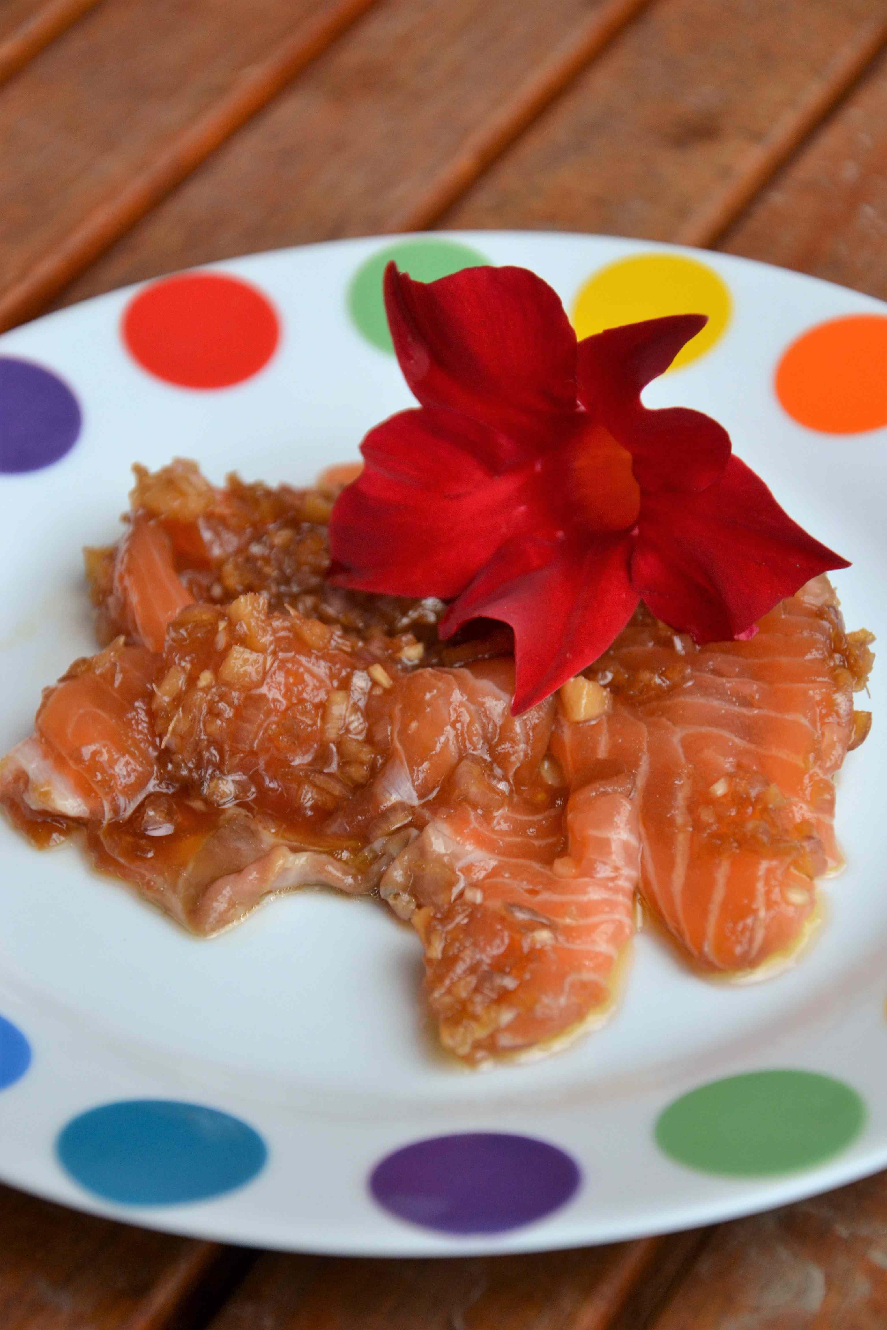 Ricetta: Carpaccio di salmone con zenzero fresco e salsa di soia