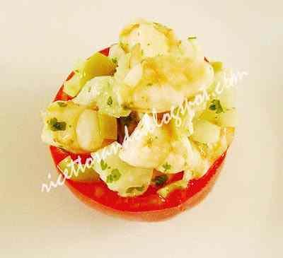 Ricetta: Pomodori ripieni di gamberi (Sicilia)