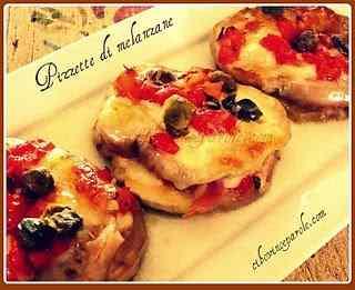 Doppie pizzette di melanzane