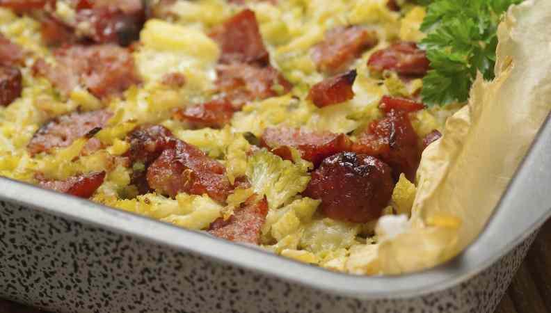 Ricetta: Gratin di cavolfiore e salsiccia