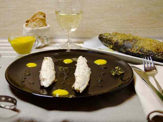 Ricetta: branzino senza sale con maionese alla colatura di alici