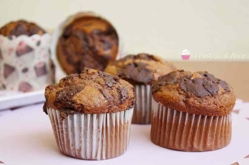 Muffins al cioccolato ricetta facile e golosa