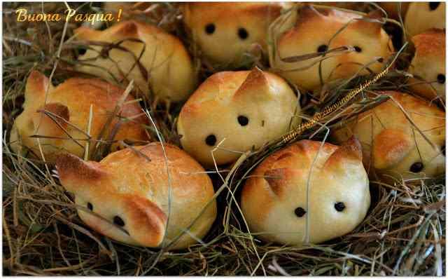 Ricetta: Coniglietti di pane- bunnies bread
